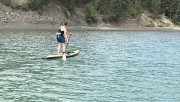 Swinging Paddle Boarding lesson